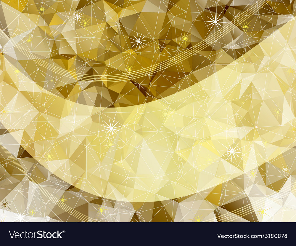Holiday golden frame vector