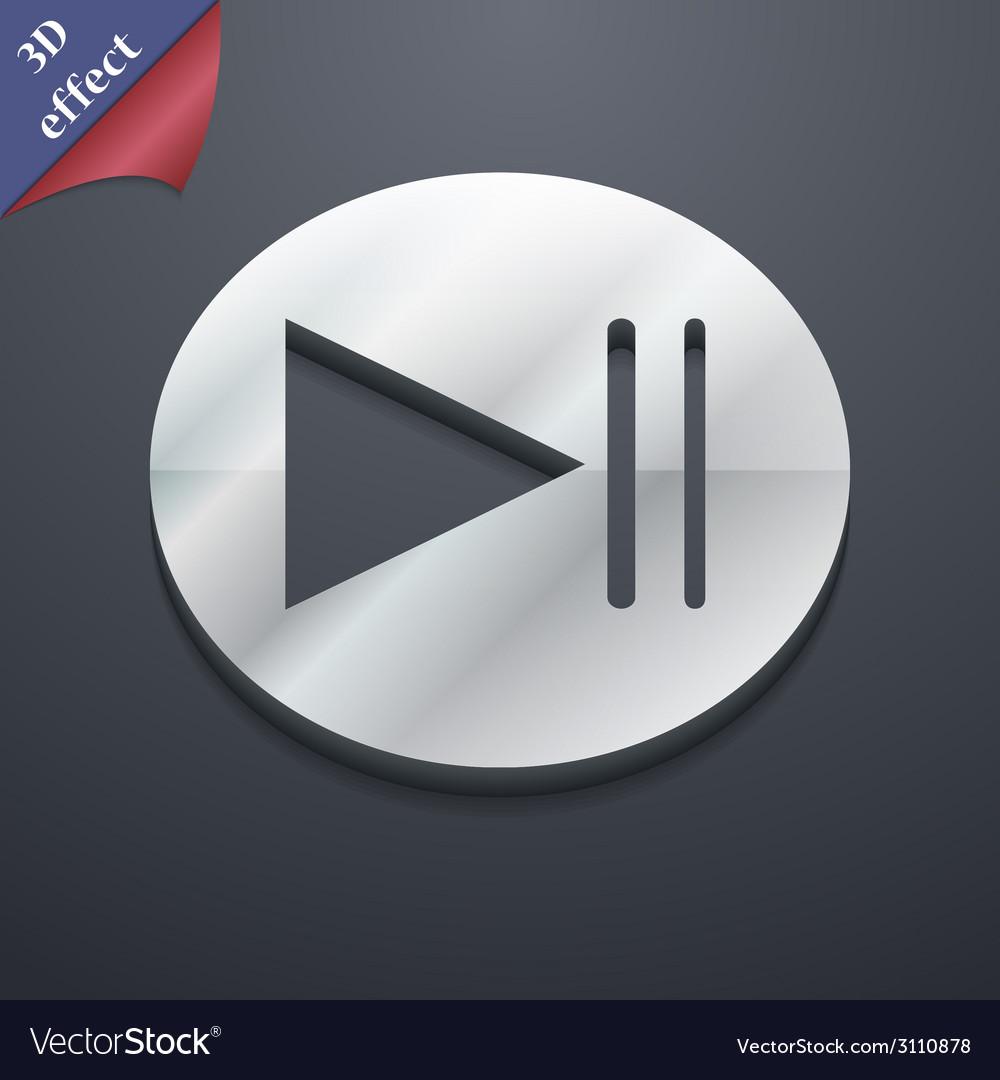 Multimedia control icon symbol 3d style trendy vector | Price: 1 Credit (USD $1)