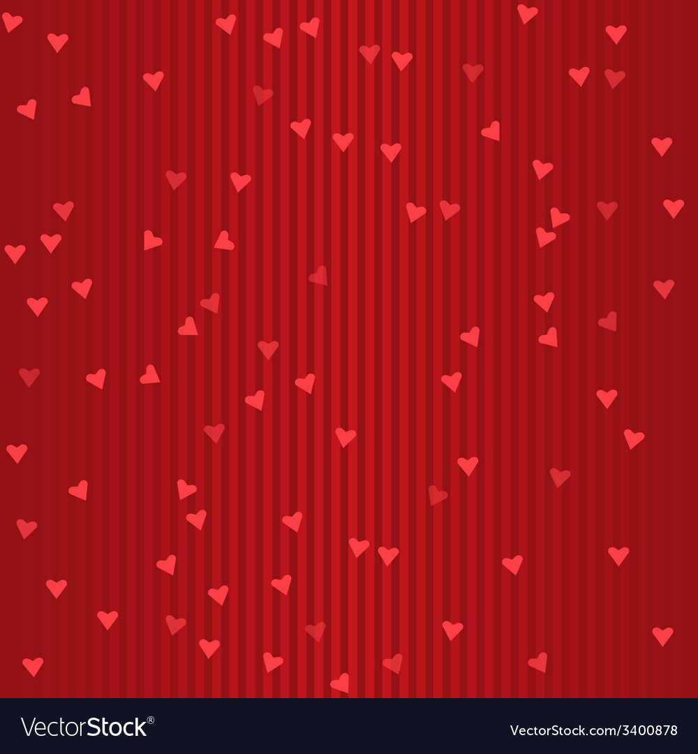 Seamless holiday red striped pattern with hearts vector | Price: 1 Credit (USD $1)