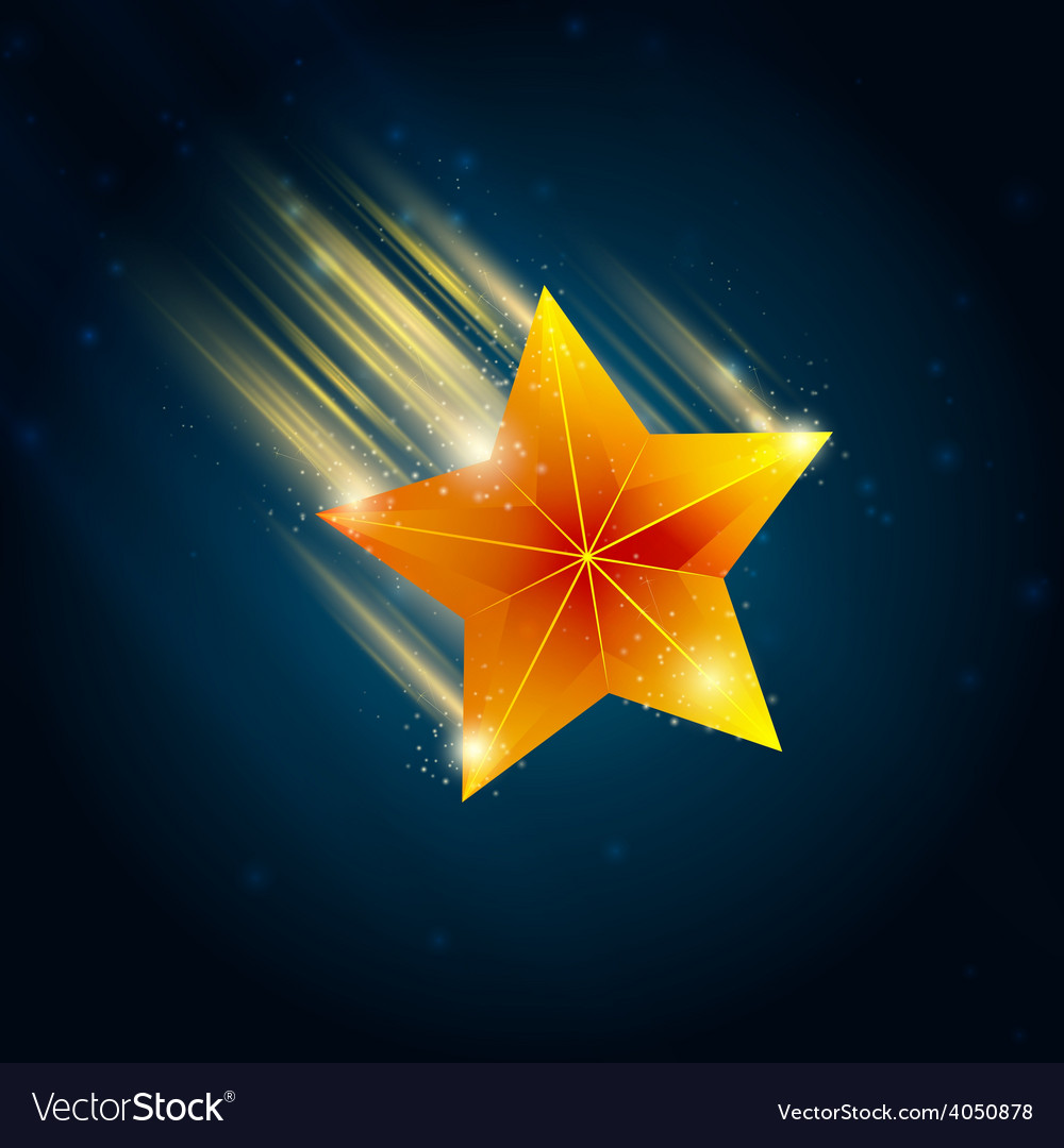 Shooting star vector | Price: 1 Credit (USD $1)