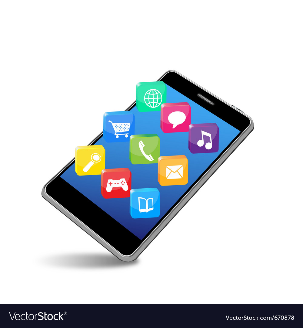 Smart phone applications vector | Price: 1 Credit (USD $1)