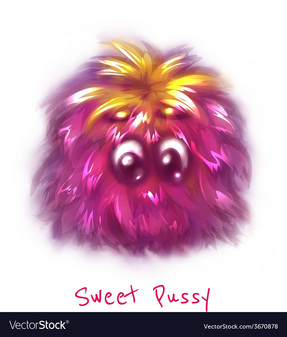 Sweet pink pussy on white background vector | Price: 1 Credit (USD $1)