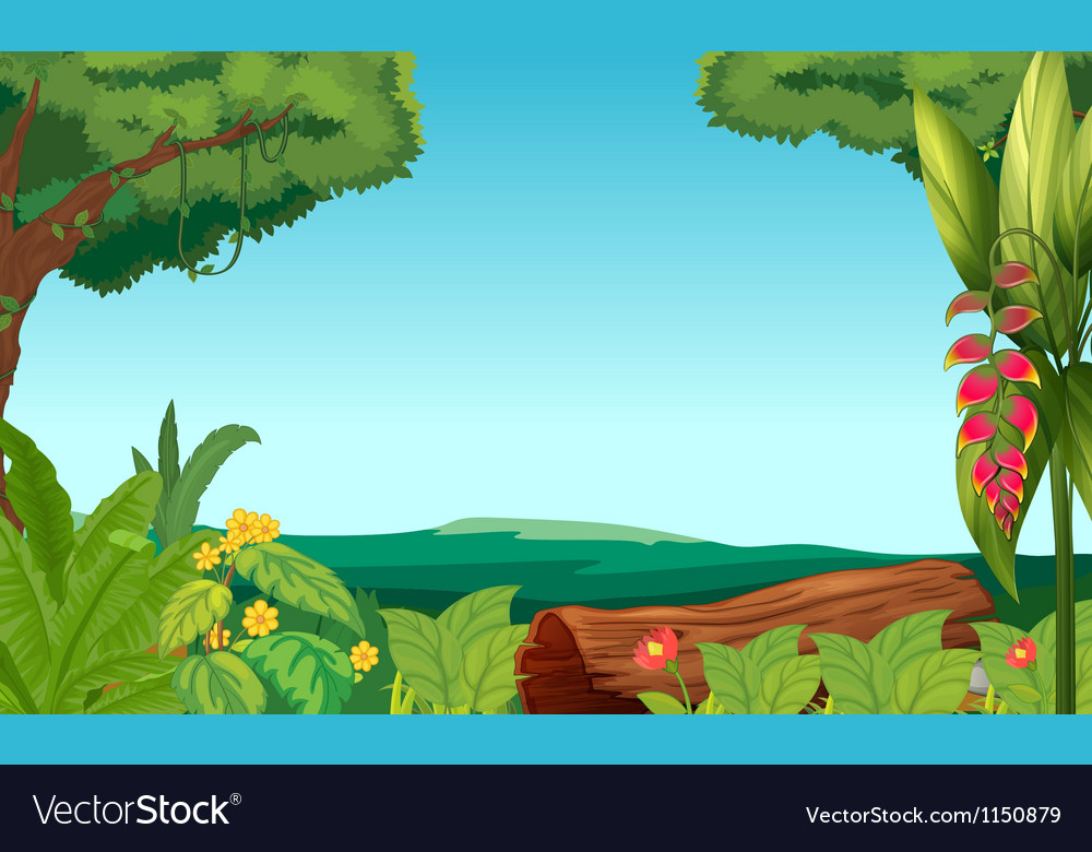 A view of the jungle vector | Price: 1 Credit (USD $1)