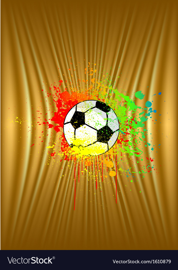 Abstract gold background with soccer ball vector | Price: 1 Credit (USD $1)