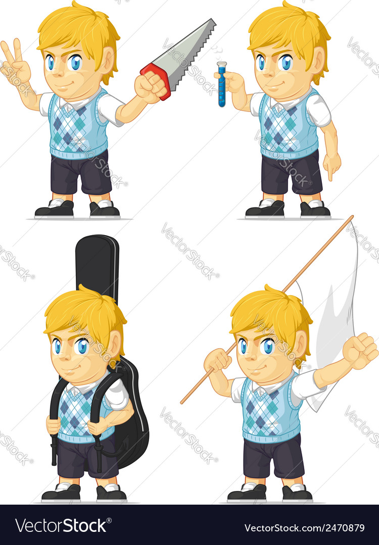 Blonde rich boy customizable mascot 7 vector | Price: 1 Credit (USD $1)
