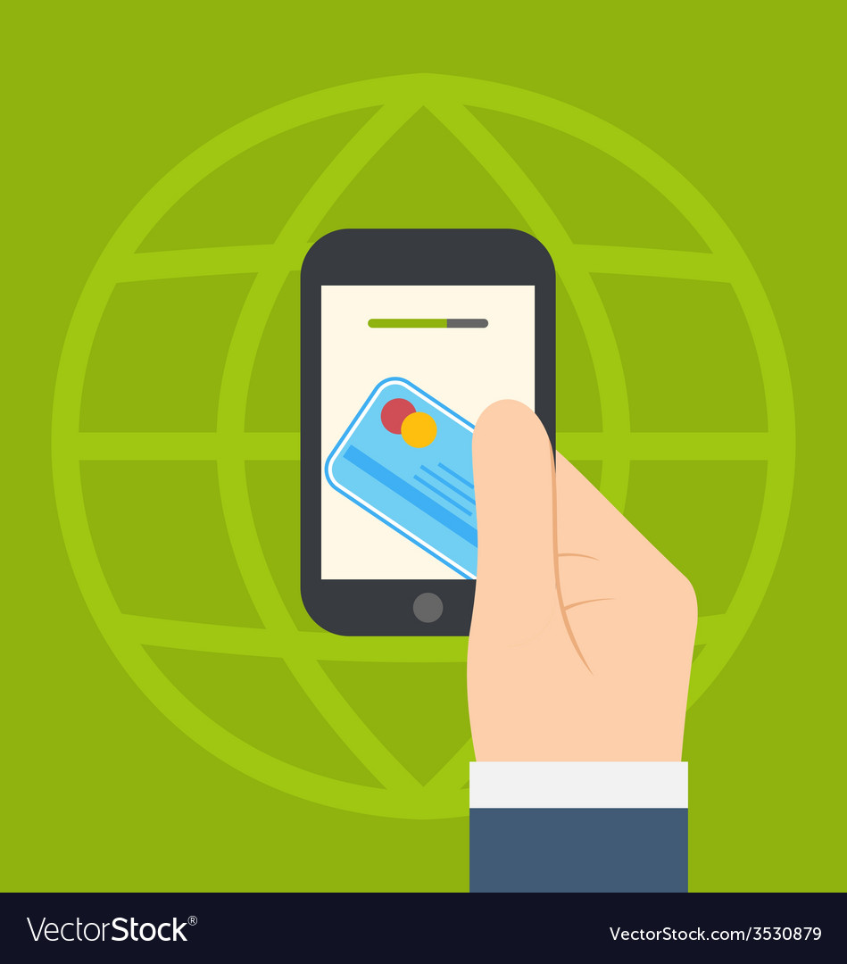 Concept of contactless credit card payment via vector | Price: 1 Credit (USD $1)