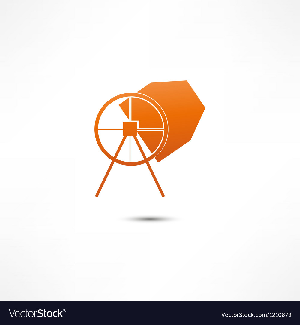 Concrete mixer icon vector | Price: 1 Credit (USD $1)