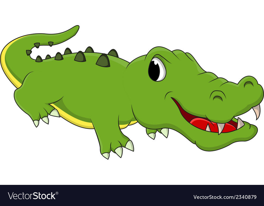 Cute crocodile cartoon vector | Price: 1 Credit (USD $1)