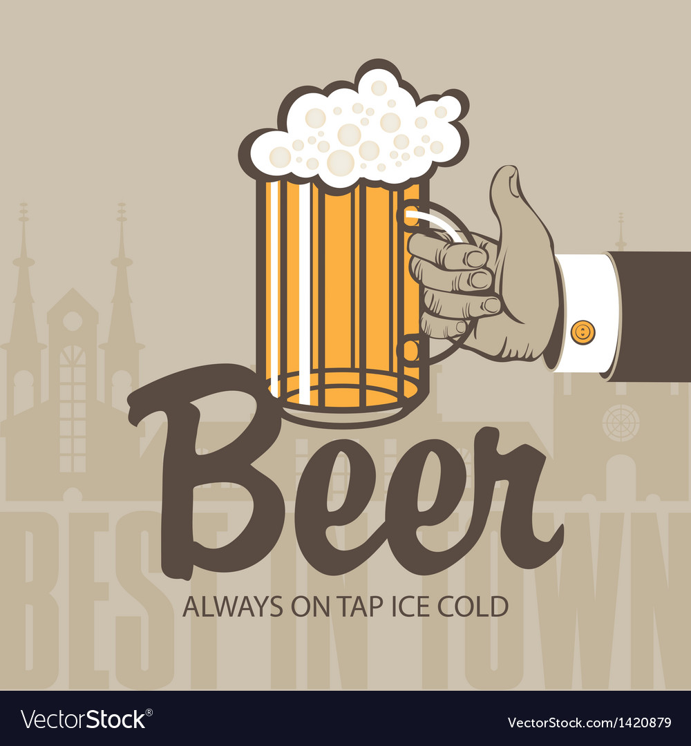 Glass of beer vector | Price: 1 Credit (USD $1)