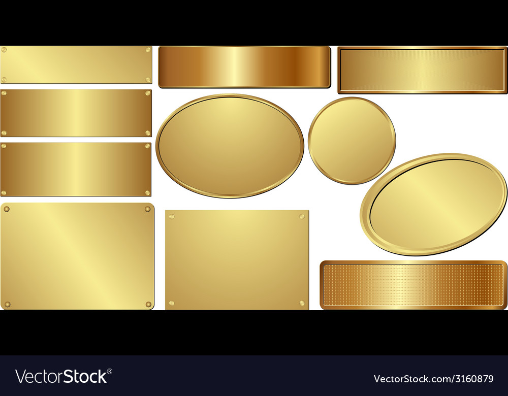 Golden plaques vector | Price: 1 Credit (USD $1)