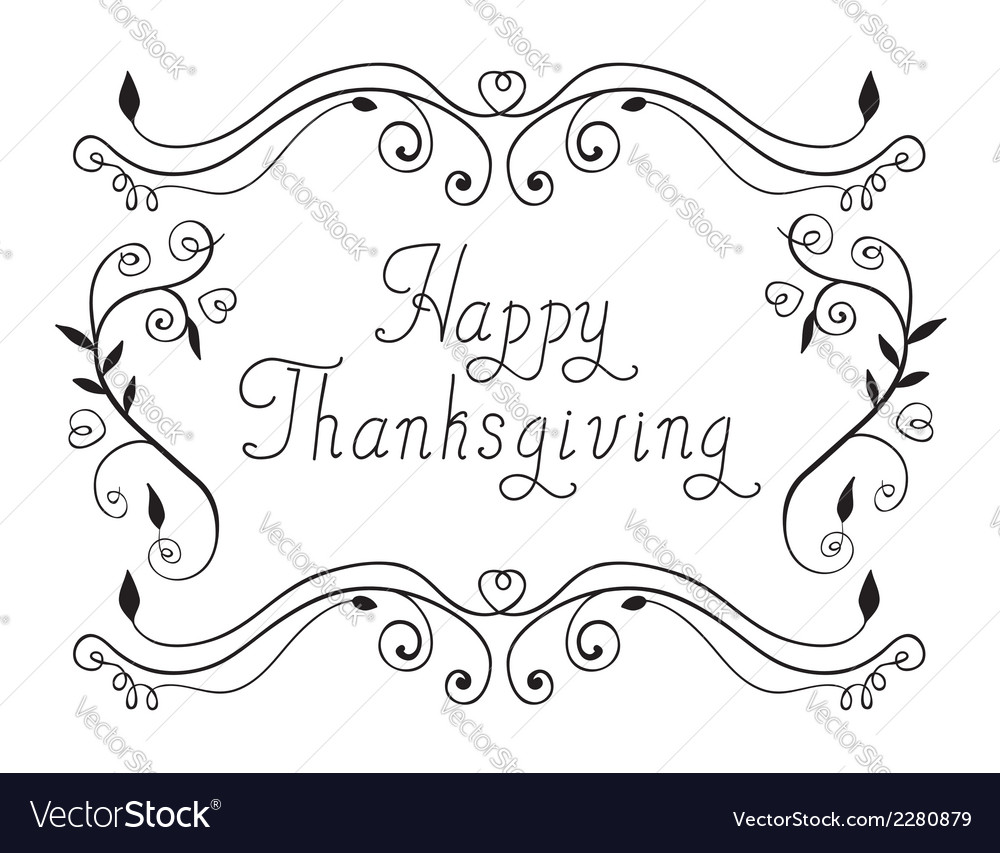 Happy thanksgiving vector | Price: 1 Credit (USD $1)