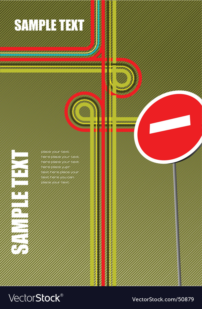 Junction brochure vector | Price: 1 Credit (USD $1)