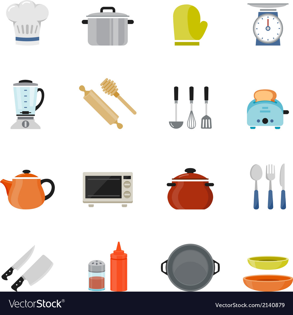 Kitchenware full color flat design icon vector | Price: 1 Credit (USD $1)