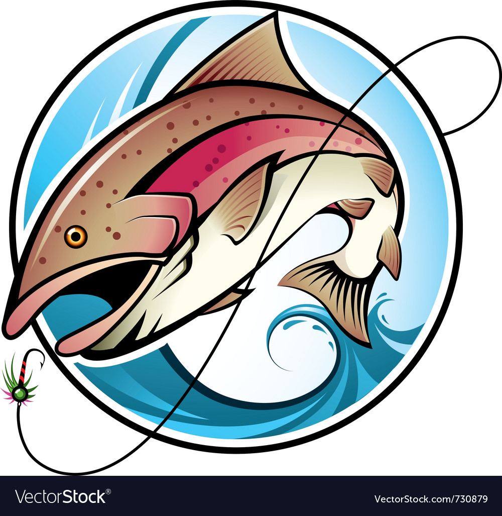 Rainbow trout vector | Price: 3 Credit (USD $3)