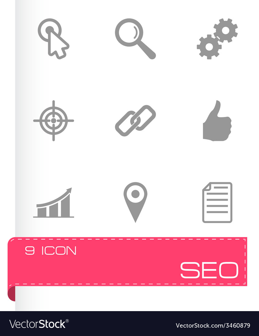 Seo icon set vector | Price: 1 Credit (USD $1)