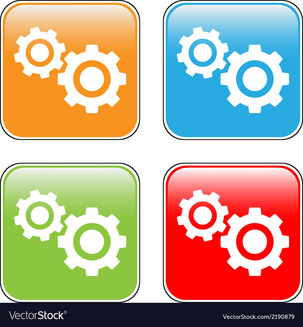 Settings buttons set vector | Price: 1 Credit (USD $1)