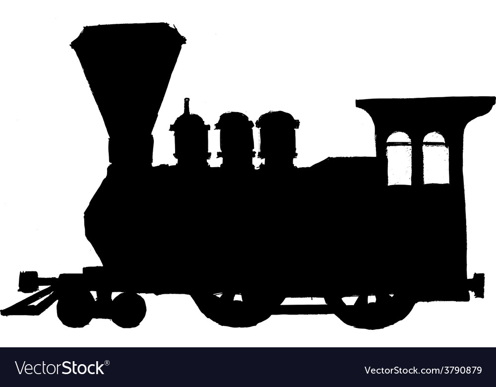 Vintage steam train vector | Price: 1 Credit (USD $1)