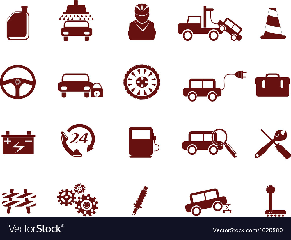 Auto car service icon vector | Price: 1 Credit (USD $1)