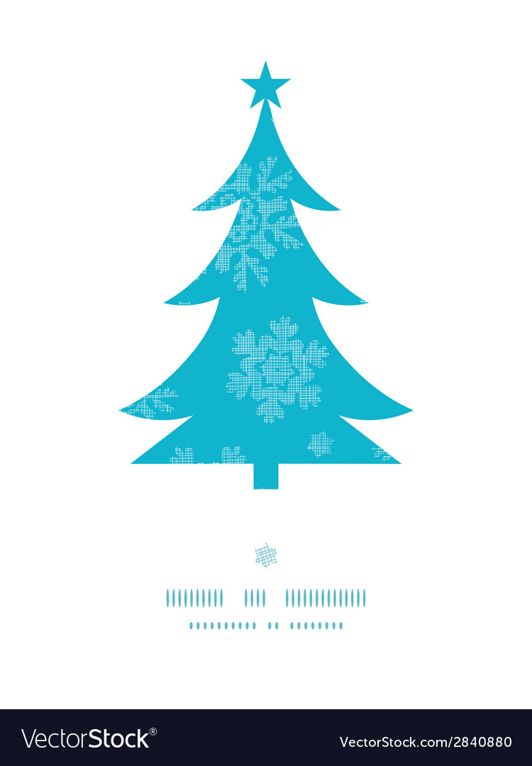 Christmas trees frame blue snowflakes textile vector | Price: 1 Credit (USD $1)