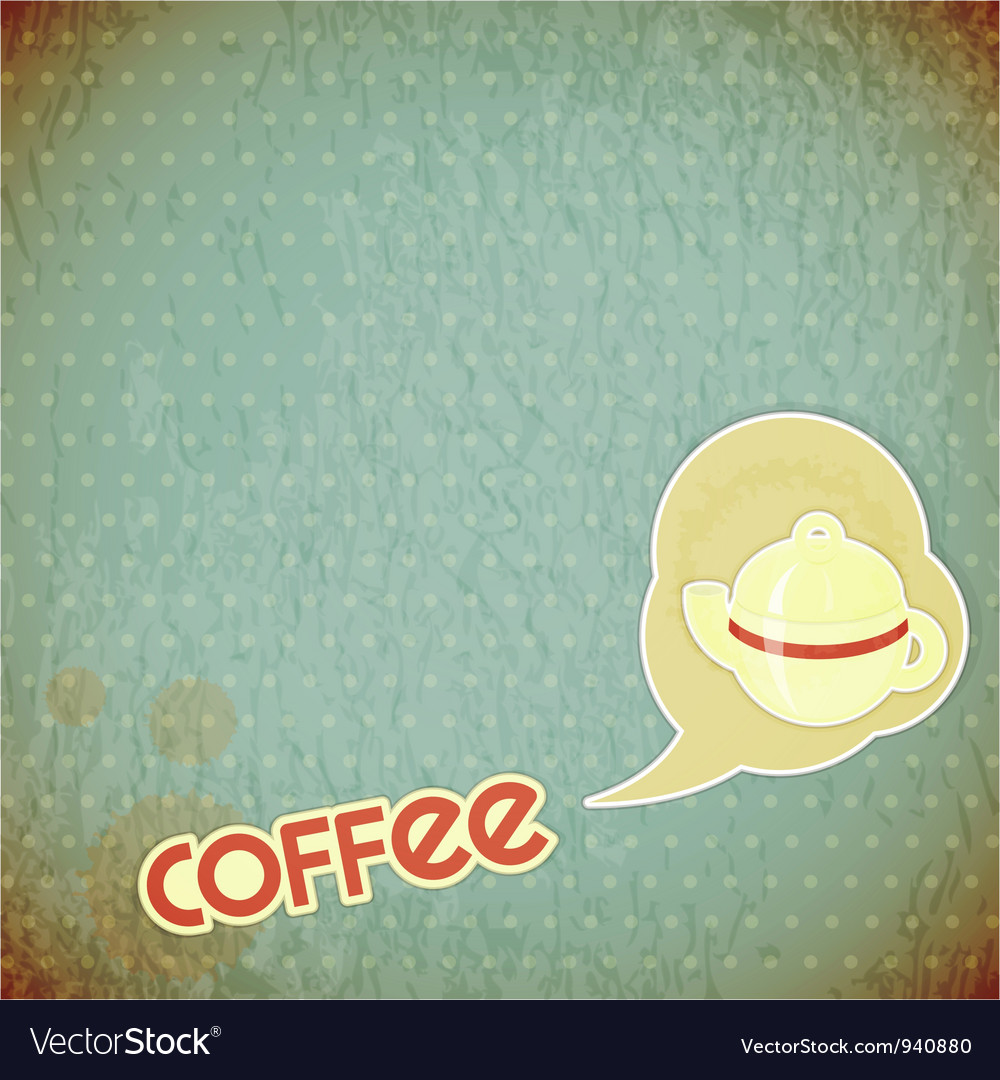 Coffee pot and lettering coffee vector | Price: 1 Credit (USD $1)