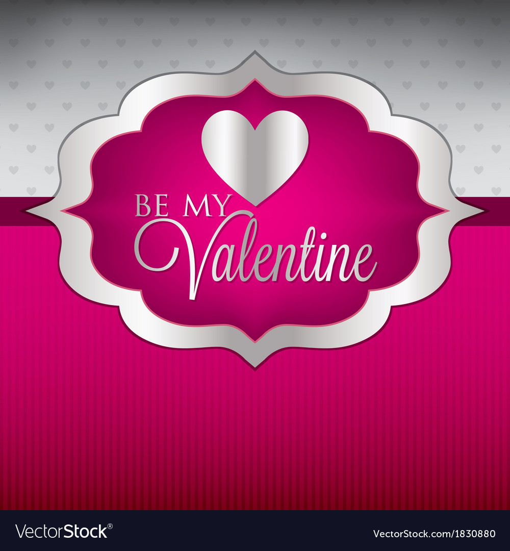 Label valentines day heart cardinvitation in vector | Price: 1 Credit (USD $1)