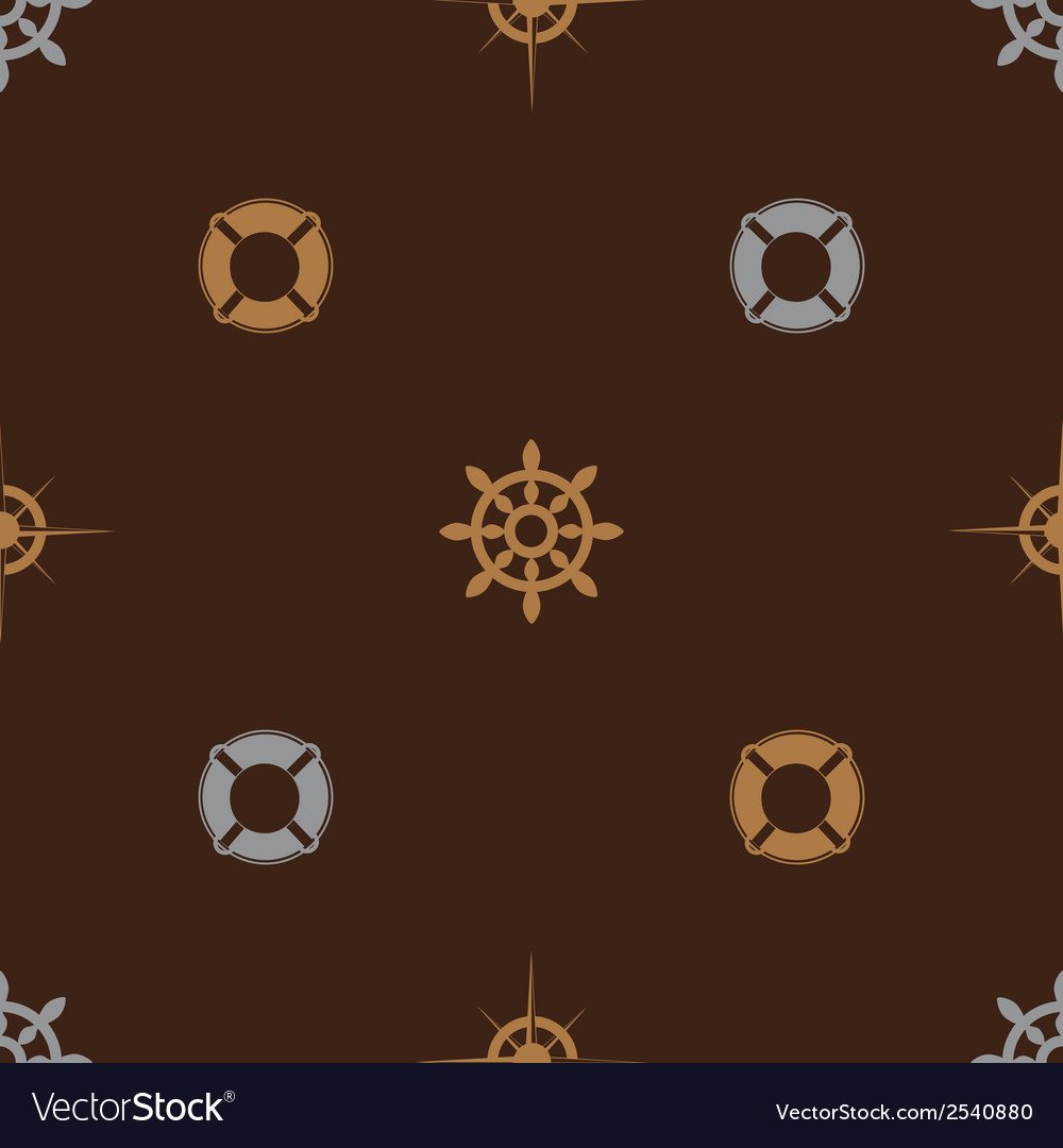 Nautical brown pattern seamless eps10 vector | Price: 1 Credit (USD $1)