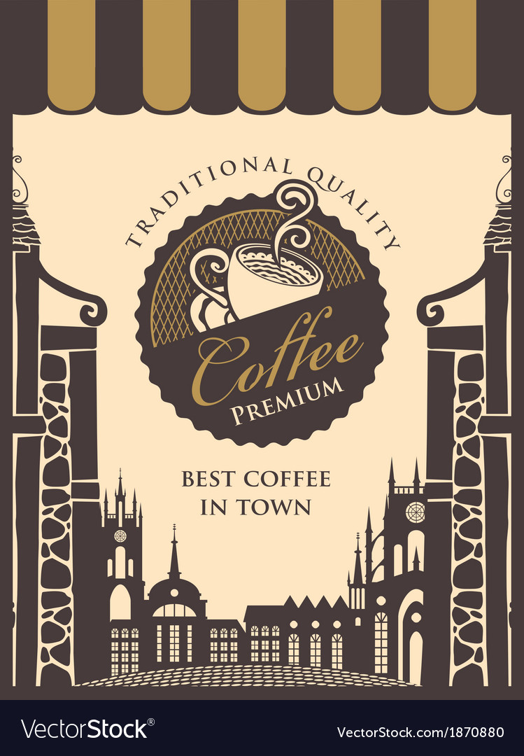 Old city cafe vector | Price: 1 Credit (USD $1)
