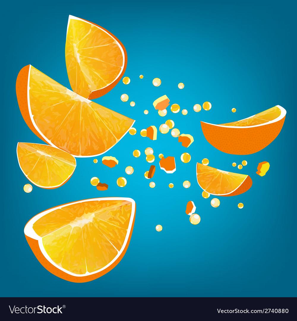 Orange explosion vector | Price: 1 Credit (USD $1)