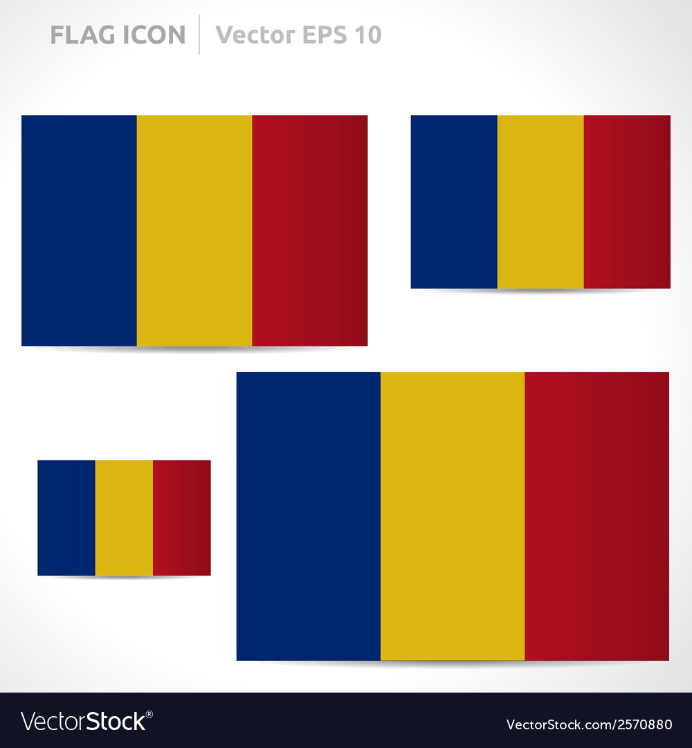 Romania flag template vector | Price: 1 Credit (USD $1)