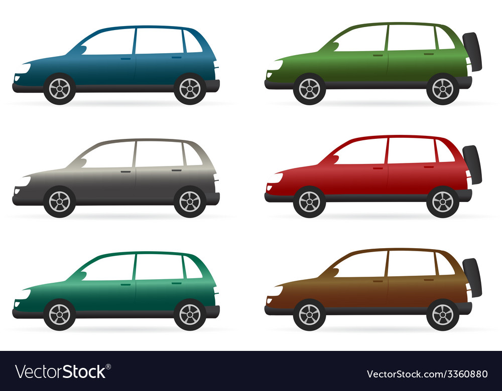 Set of isolated colorful crossover vector | Price: 1 Credit (USD $1)
