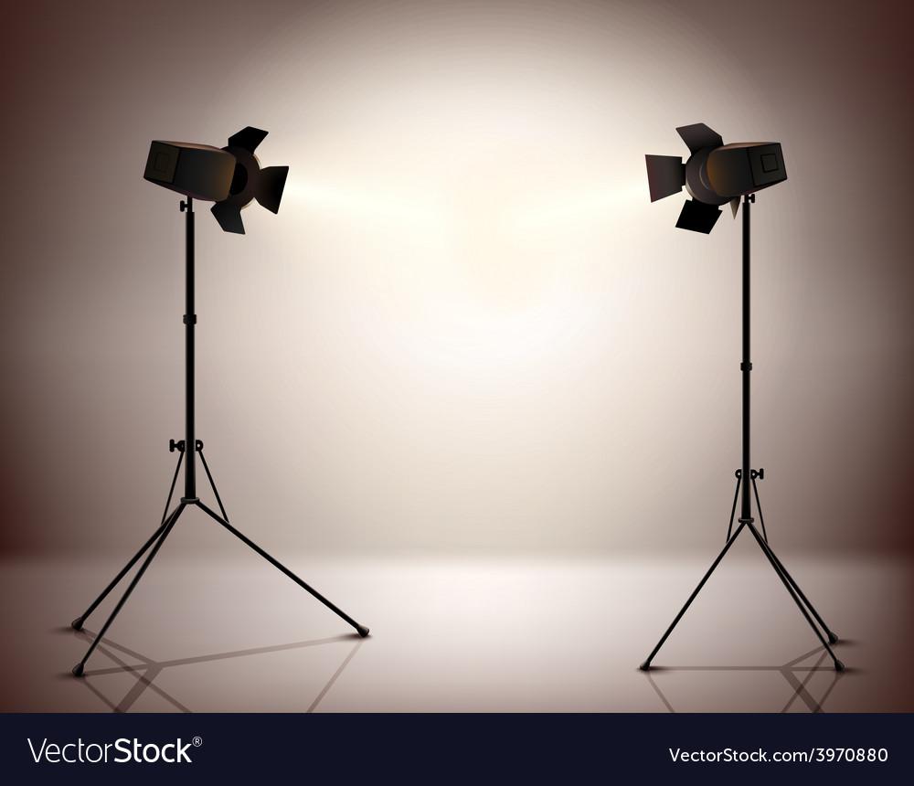 Standing spotlights background vector | Price: 1 Credit (USD $1)