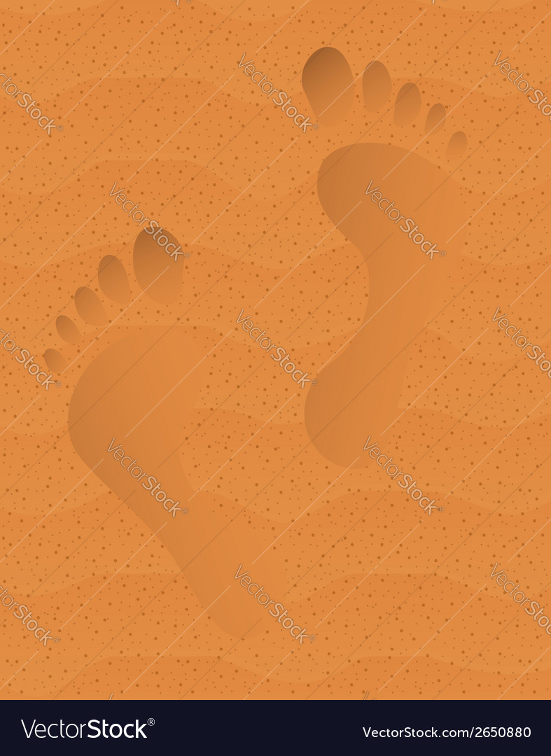 Trace on sand vector | Price: 1 Credit (USD $1)
