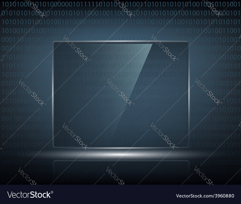 Transparent touch screen vector | Price: 1 Credit (USD $1)