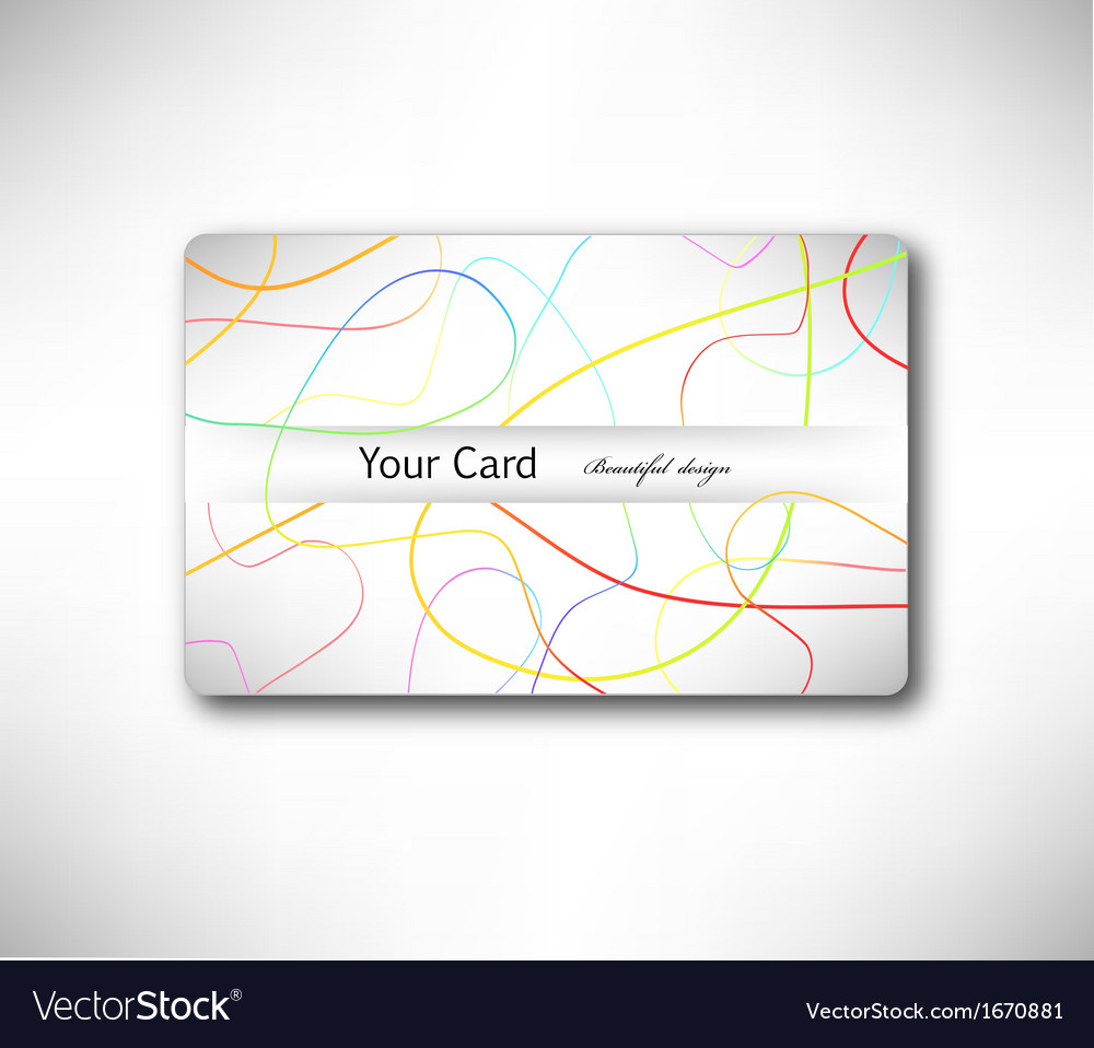 Abstract gift card with colorful lines vector | Price: 1 Credit (USD $1)