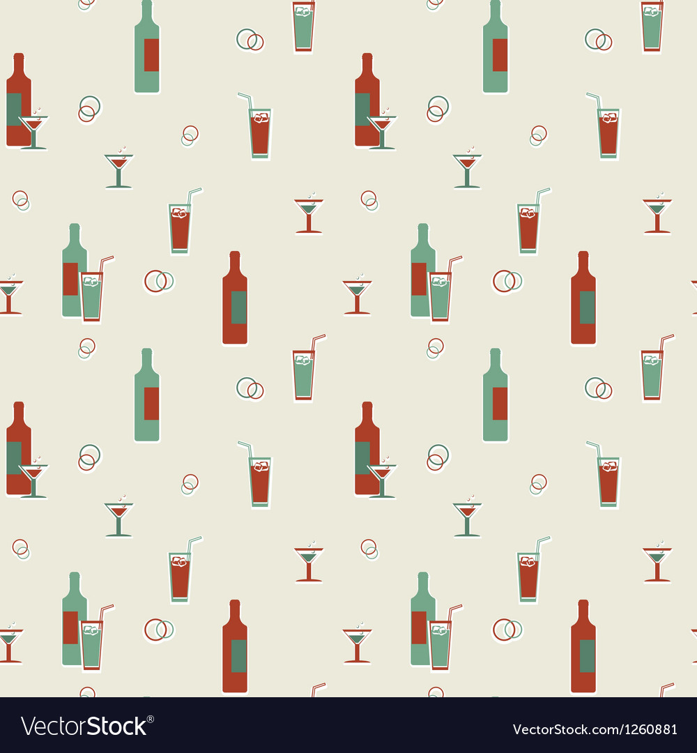 Alcoholic beverages pattern vector | Price: 1 Credit (USD $1)