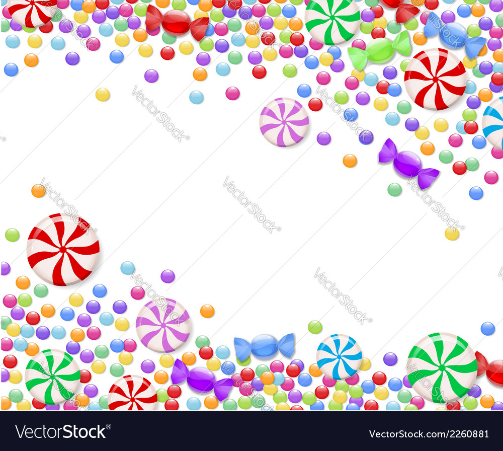 Background of candies vector | Price: 1 Credit (USD $1)