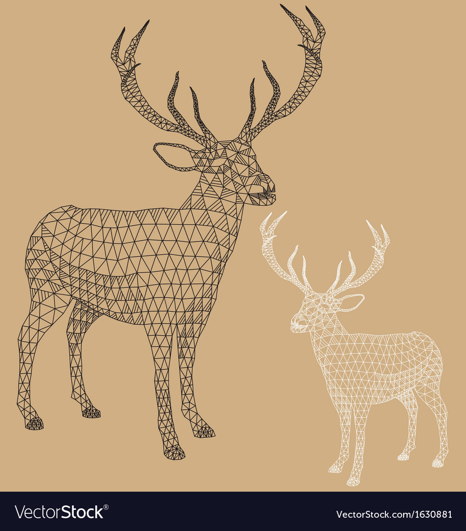 Christmas reindeer with geometric pattern vector | Price: 1 Credit (USD $1)