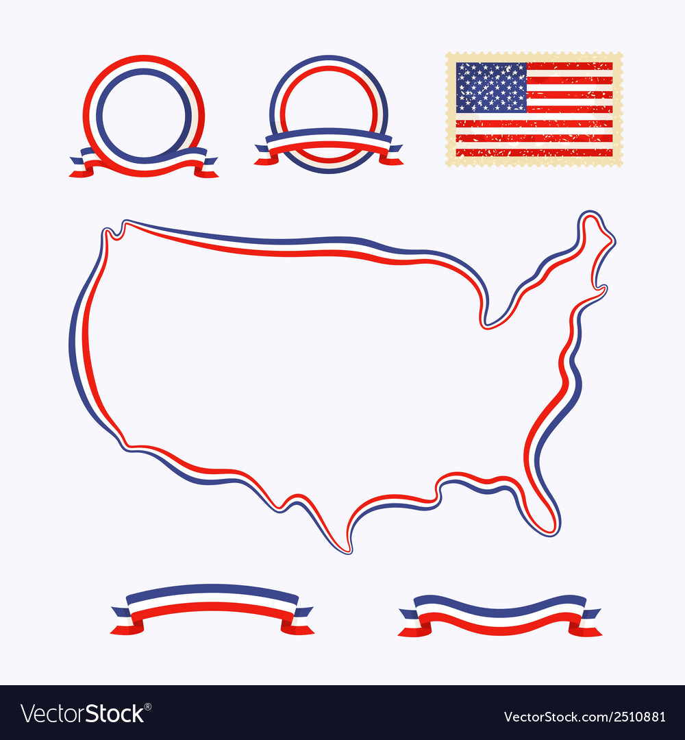 Colors of usa vector | Price: 1 Credit (USD $1)