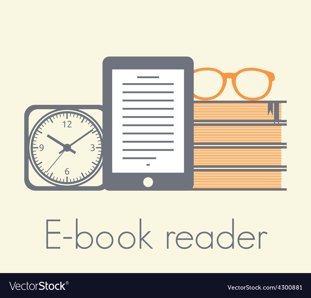 E book reader1 resize vector | Price: 1 Credit (USD $1)