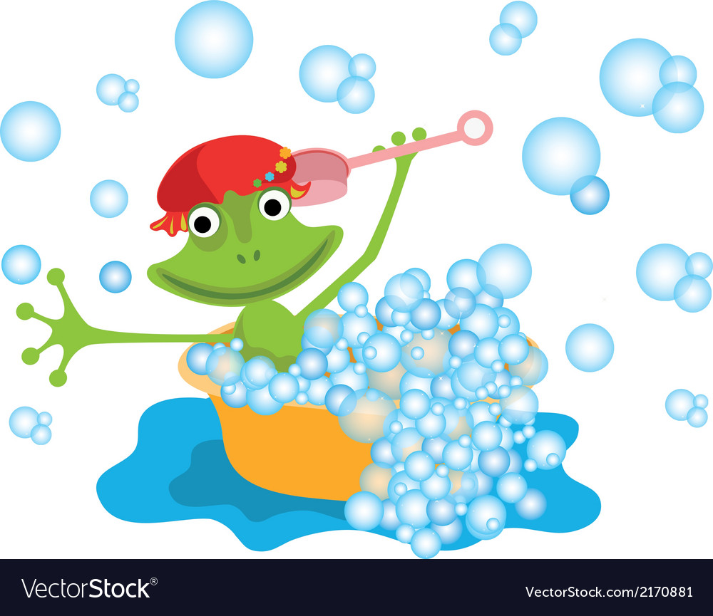 Frog in the bathrom vector | Price: 1 Credit (USD $1)