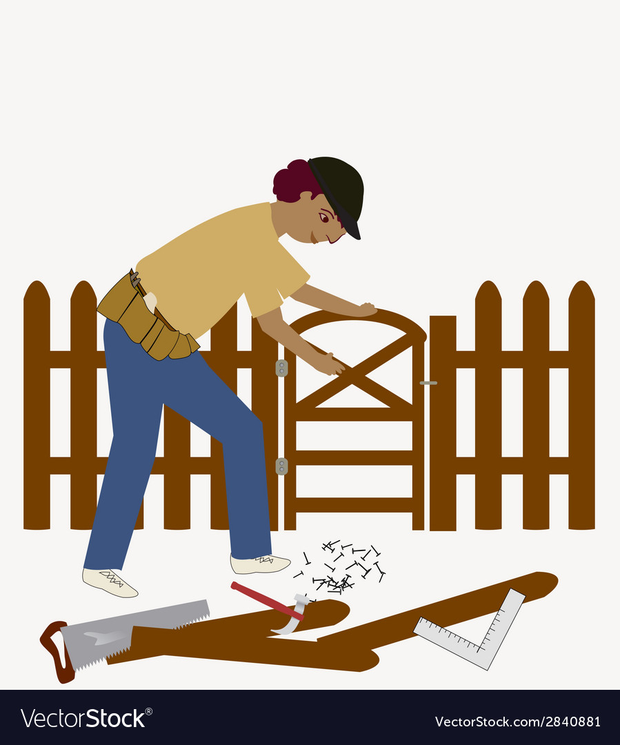 The handyman vector | Price: 1 Credit (USD $1)