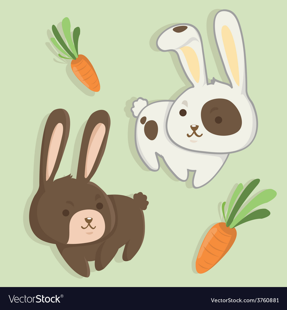 Rabbit twins vector | Price: 1 Credit (USD $1)