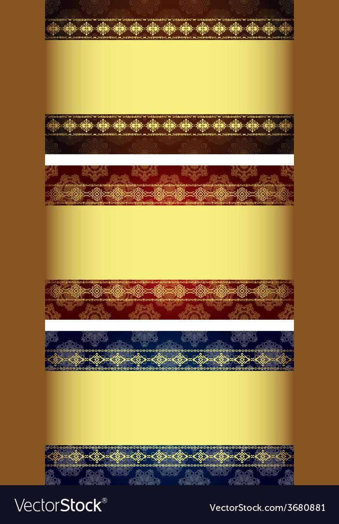 Set of vintage gold-framed labels vector | Price: 1 Credit (USD $1)