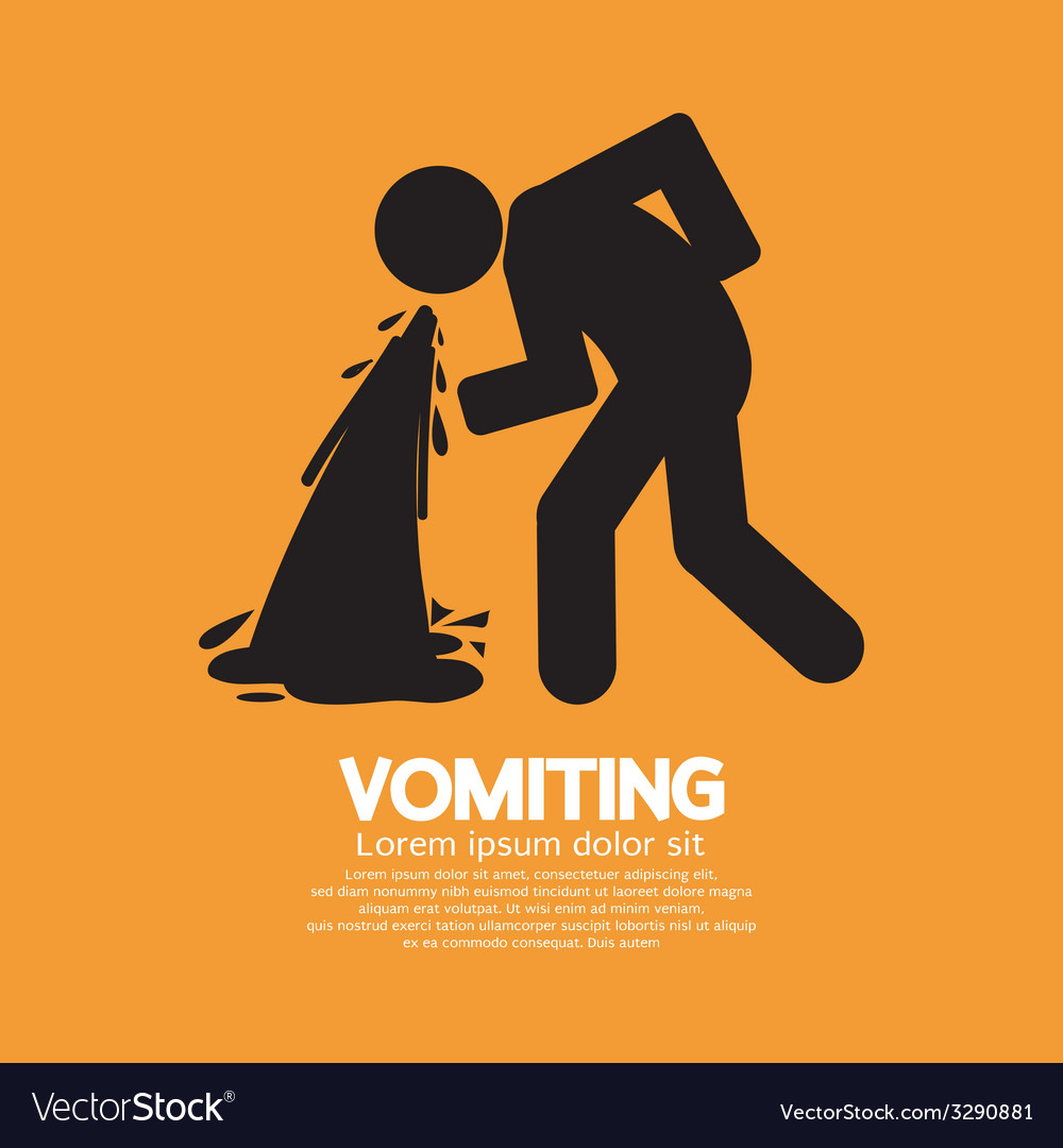 Vomiting person graphic symbol vector   Price: 1 Credit (USD $1)