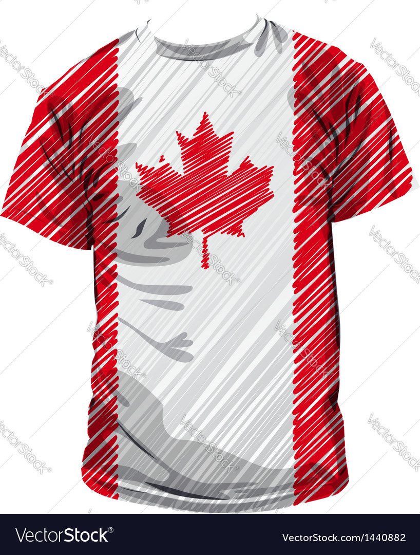 Canadian tee vector | Price: 1 Credit (USD $1)
