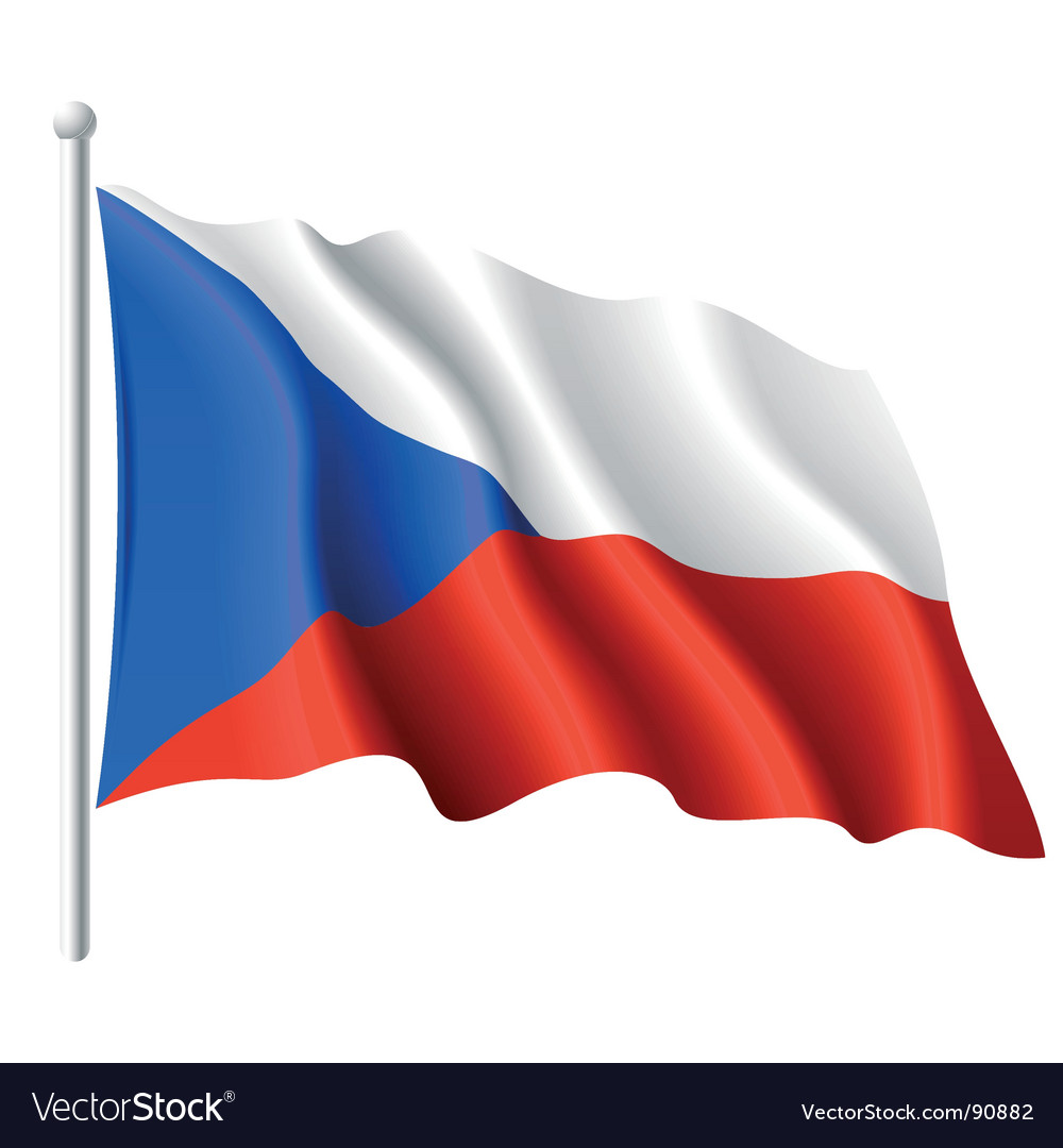 Flag of the czech republic vector | Price: 1 Credit (USD $1)