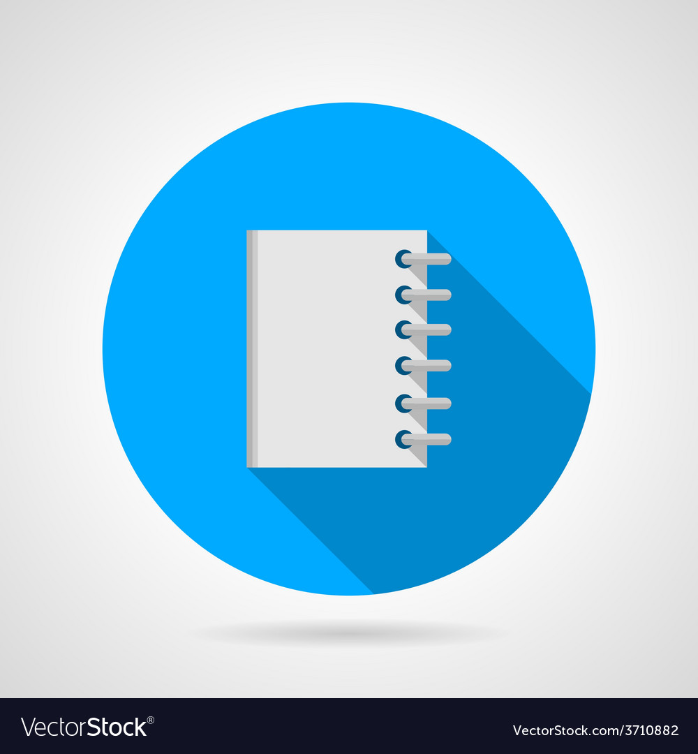 Flat icon for notebook vector | Price: 1 Credit (USD $1)