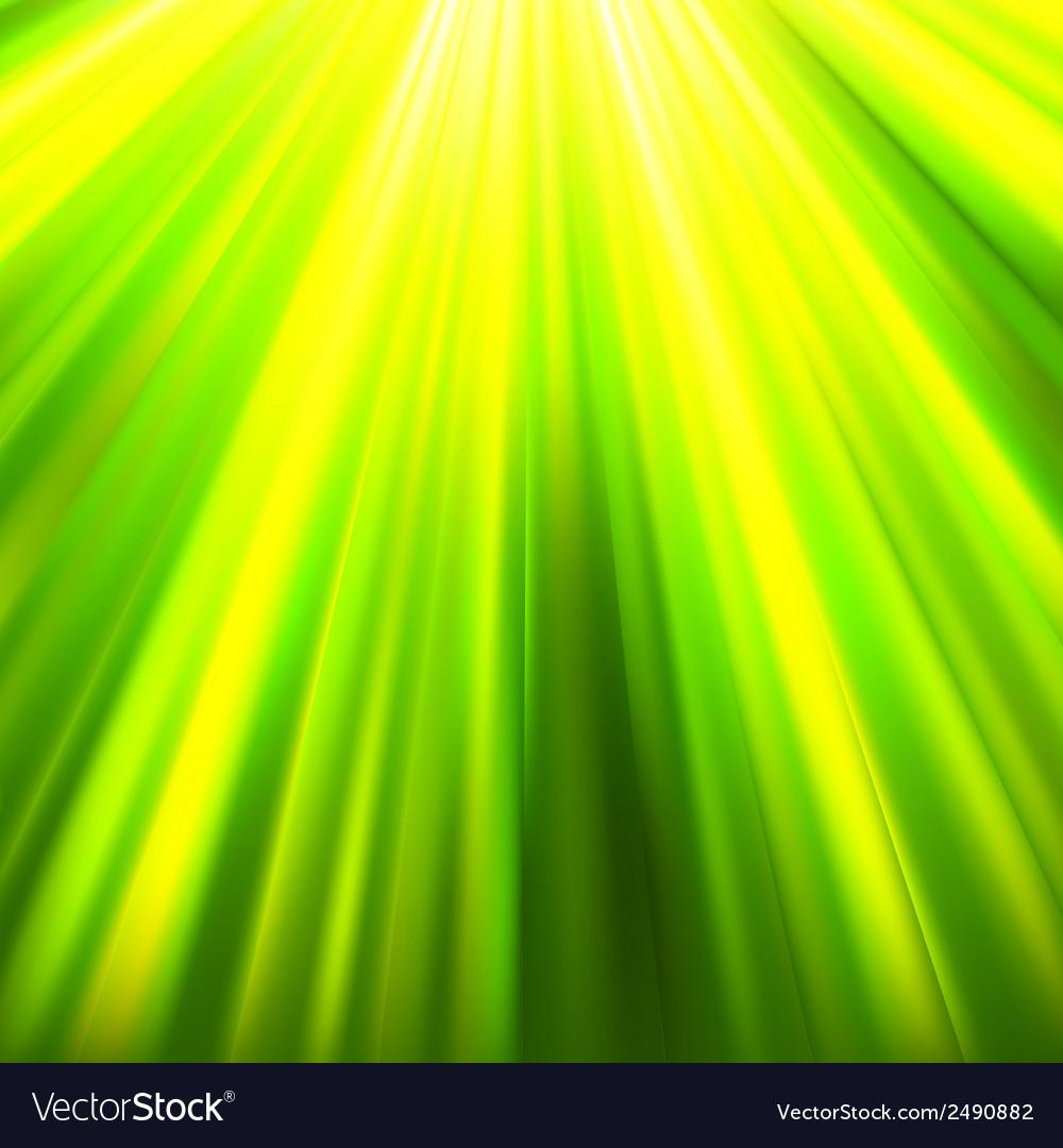 Green luminous rays eps 8 vector | Price: 1 Credit (USD $1)