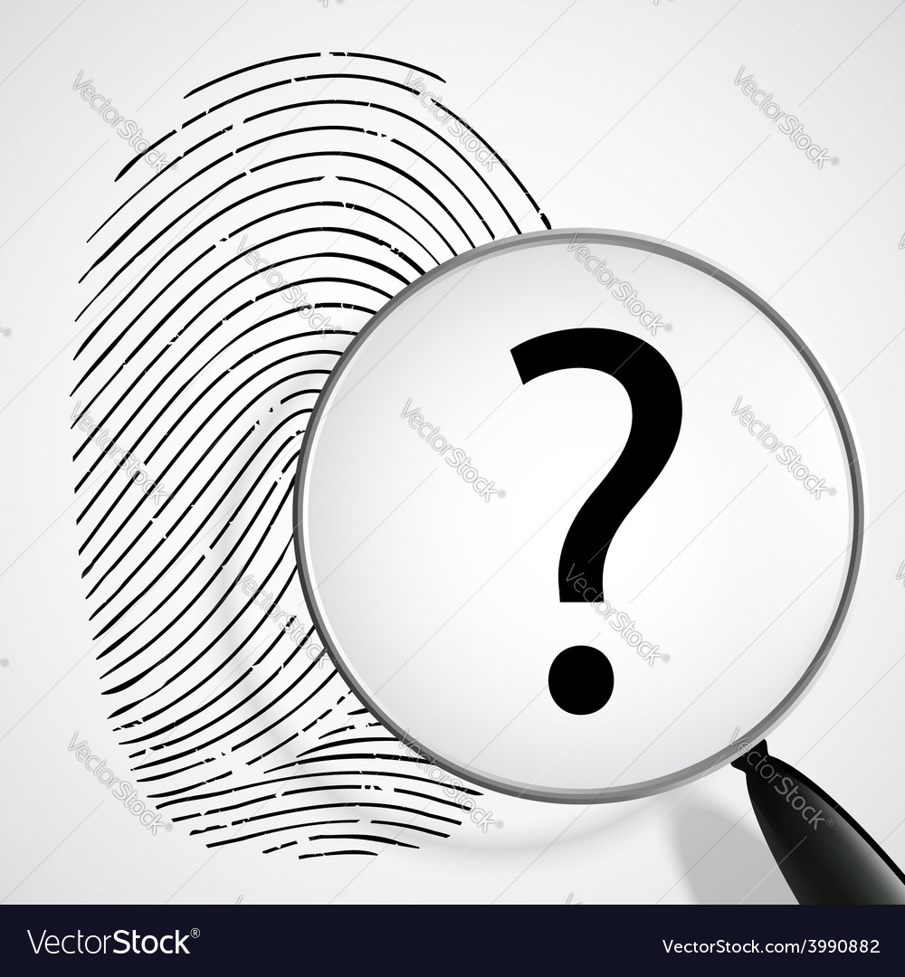 Magnifying glass with a question mark and vector | Price: 1 Credit (USD $1)