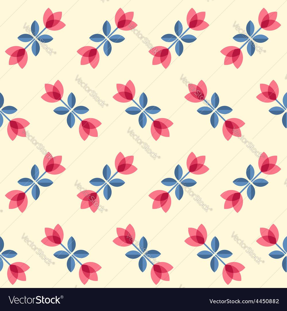 Scandinavian flowers - seamless tulips pattern vector | Price: 1 Credit (USD $1)